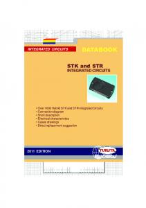 STK and STR integrated circuits, 2011 edition