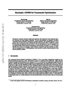 Stochastic ADMM for Nonsmooth Optimization