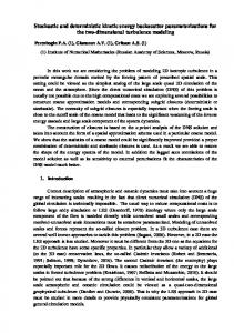 Stochastic and deterministic kinetic energy ...