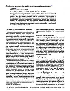 Stochastic approach to modeling photoresist development