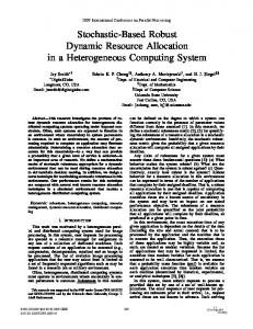 Stochastic-Based Robust Dynamic Resource Allocation in a