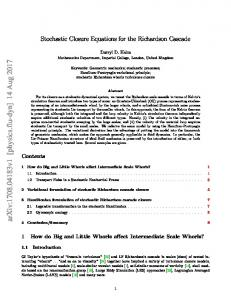 Stochastic Closure Equations for the Richardson Cascade