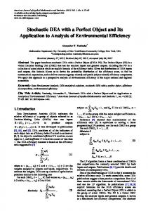 Stochastic DEA with a Perfect Object and Its ... - Semantic Scholar