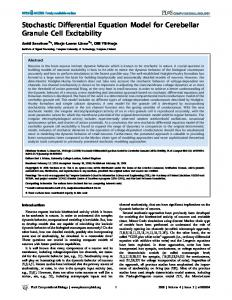 Stochastic Differential Equation Model for ... - Semantic Scholar