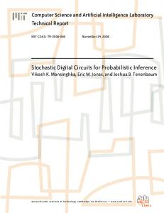 Stochastic Digital Circuits for Probabilistic Inference - CiteSeerX