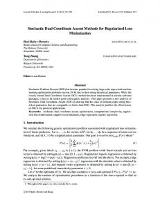 Stochastic Dual Coordinate Ascent Methods for Regularized ...www.researchgate.net › post › attachment › download