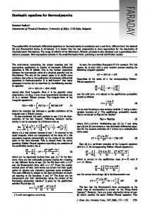 Stochastic equations for thermodynamics