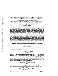 Stochastic expansions and Hopf algebras