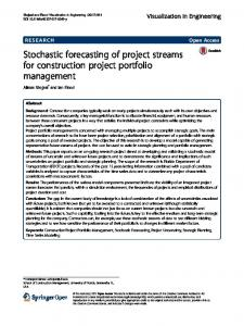 Stochastic forecasting of project streams for construction project ...