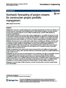 Stochastic forecasting of project streams for construction ...www.researchgate.net › publication › fulltext › 31817260