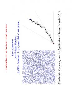 Stochastic Geometry and its Applications, Rouen, March, 2012