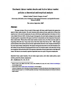Stochastic labour market shocks and Active labour market policies - iab