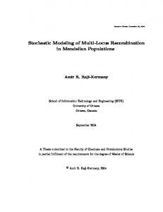 Stochastic Modeling of Multi-Locus Recombination in