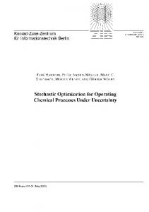 Stochastic Optimization for Operating Chemical
