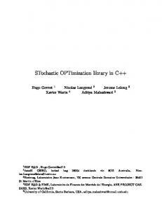 STochastic OPTimization library in C++