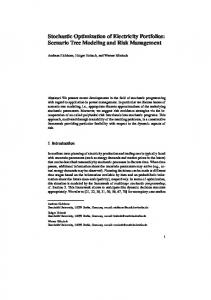 Stochastic Optimization of Electricity Portfolios: Scenario ... - CiteSeerX