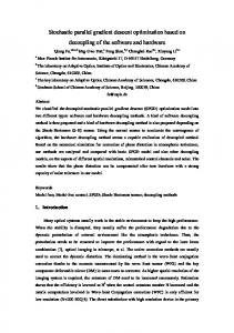 Stochastic parallel gradient descent optimization based on ... - arXiv