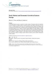 Stock Market and Economic Growth in Eastern Europe - Economics E ...