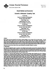 Stock Market and Economic Growth in Malaysia - SSRN papers