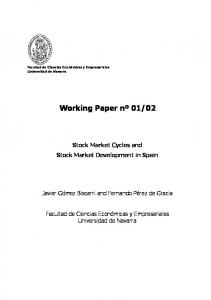 Stock Market Cycles and Stock Market Development in Spain