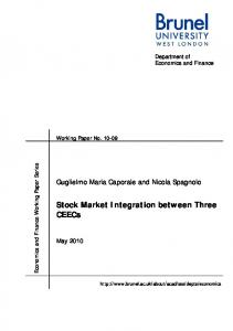 Stock Market Integration between Three CEECs - CiteSeerX