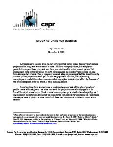 stock returns for dummies - Center for Economic and Policy Research