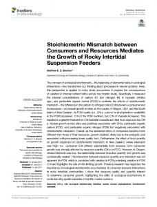 Stoichiometric Mismatch between Consumers and
