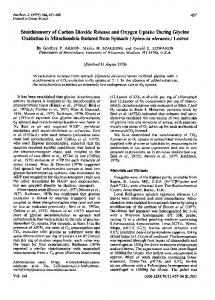 Stoichiometry of Carbon Dioxide Release and Oxygen ... - Europe PMC
