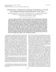 Stoichiometry of Monoclonal Antibody ... - Journal of Virology