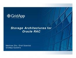 Storage Architectures for Oracle RAC - NYOUG