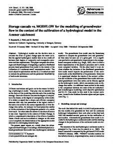 Storage cascade vs. MODFLOW for the modelling of groundwater flow ...