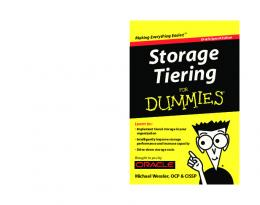 Storage Tiering For Dummies,® Oracle Special Edition