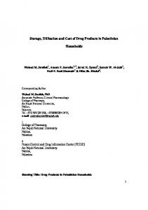 Storage, Utilization and Cost of Drug Products in ... - Semantic Scholar