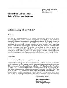 Stories from Cancer Camp - Journal of Applied Hermeneutics