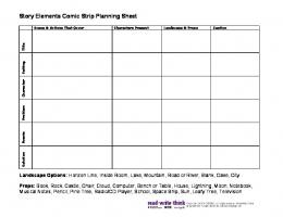 Story Elements Comic Strip Planning Sheet - ReadWriteThink