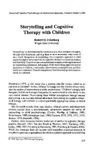 Storytelling and Cognitive Therapy with Children
