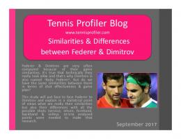 STP Stats difference between Federer & Dimitrov