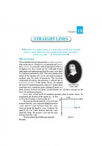 STRAIGHT LINES - NCERT BOOKS and CBSE BOOKS