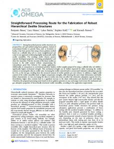 Straightforward Processing Route for the Fabrication ... - PUBS (acs.org)
