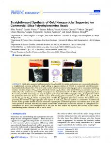 Straightforward Synthesis of Gold Nanoparticles Supported on ...