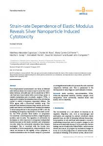 Strain-rate Dependence of Elastic Modulus Reveals ... - IntechOpen