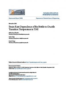 Strain-Rate Dependence of the Brittle-to-Ductile ... - Semantic Scholar