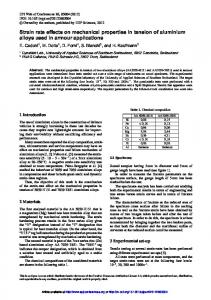 Strain rate effects on mechanical properties in tension of aluminium ...