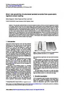 Strain rate sensitivity of autoclaved aerated concrete from quasi-static ...