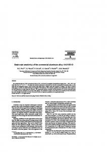 Strain rate sensitivity of the commericial aluminum alloy ... - rpi scorec
