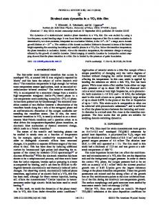 Strained state dynamics in a VO2 thin film