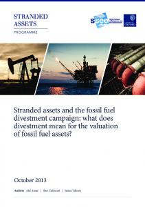 Stranded assets and the fossil fuel divestment campaign ...