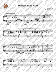 Strangers in the Night Sheet Music - Fariborz Lachini