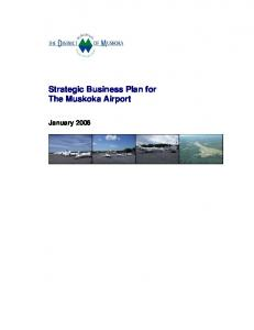 Strategic Business Plan for The Muskoka Airport