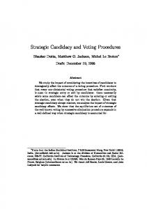 Strategic Candidacy and Voting Procedures